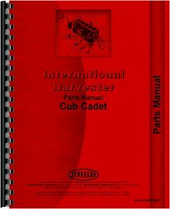 International Harvester Cub Cadet Lawn Garden Tractor Parts Manual