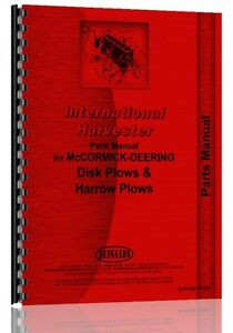 International Harvester Disk Plow Parts Manual