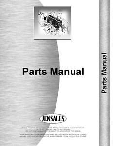 International 340 Tractor Sherman Backhoe Attachment Parts Manual