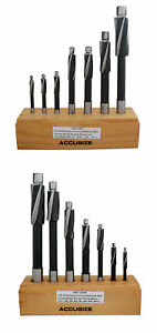 14 Pc Hss Counterbore Set 3 Flute Straight Shank Inch metric 508s 0007 007m