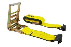 4 X 30 Ratchet Strap With Flat Hook 5400 Lbs Wll Flatbed Trailer Tie Down