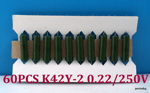60pcs Pio Capasitors K42u 2 K42y 2 0 22uf 10 250v Military In Original Box
