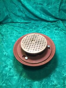 2 Wade Usa Made Cast Iron Tapped Floor Drain Nickel Bronze Top N H Connection