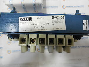 Mte Rl 03501 line Reactor 35a 040mh 3 Impedance 240v 20hp