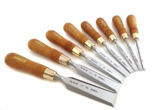 Narex made In Czech Rep Premium 8 Pc 6 8 10 12 16 20 26 32 Mm Chisels
