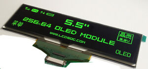 5 5 Inch Oled Green 5664asggf01 25664 Dot Matrix Oled Display