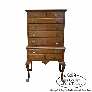 Custom Made Tiger Maple 18th Century Style Diminutive Chest On Chest