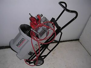 Ridgid Portable Wheeled 1822 i Auto chucking Pipe Threader 535 Die Head 141 161
