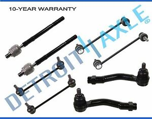 New 8pc Inner Outer Tie Rod Sway Bar End Links Fits 2005 2010 Kia Sportage