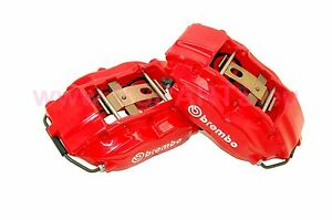 Refurbished Bmw E38 728i 730d 735i Brembo Front Brake Calipers Pair Red