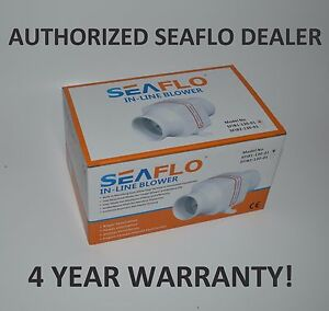 Seaflo 12v 3 In line Marine Bilge Air Blower Fan 130 Cfm