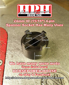 24mm 15 16 Inch Special Slot Nut Socket Spanner Tool Has Many Car Applications