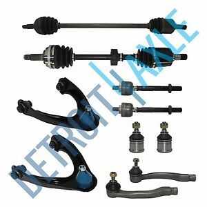 10pc Complete Suspension Kit W Front Axle Shafts Honda Civic 1996 2000 W Abs