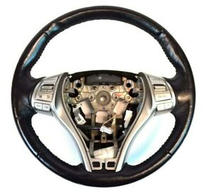 Genuine Oem Nissan Altima Black Leather Steering Wheel With Buttons