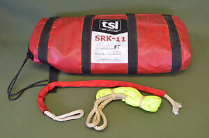Tsl Tech Safety Lines Srk 11 300 Feet Self Rescue Kit Used