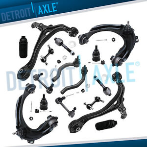 16pc Front Upper Lower Control Arm Tie Rod Sway Bar For Honda Accord Acura Tsx
