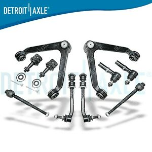 10pc Control Arm Ball Joint Sway Bar Tierod Kit 2004 2009 Dodge Durango Aspen