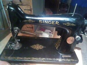 Antique Singer Sewing Machine Ca 1930 Beautiful Mint Condition