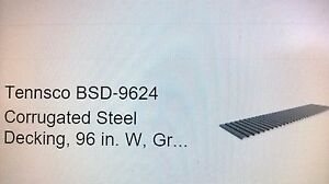 Tennsco Bsd 9624 Corrugated Steel Decking 96 In W gray lots Of 10 Boxes Local