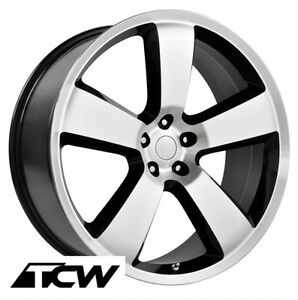 4 20 Inch 20x9 Dodge Charger Srt8 Oe Replica Machined Black Wheels Rims 5x115