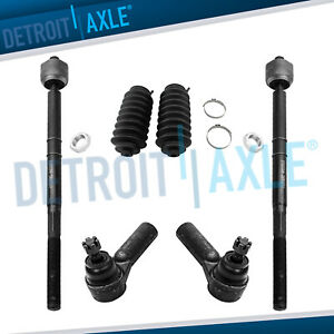 2008 2009 Escape Mariner 6pc Inner Outer Tie Rod Rack And Pinion Boot Kit