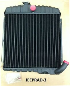 Fits Jeep 1965 1968 Cj5 Cj6 Dj5 Dj6 225 V6 17 Brass Radiator New