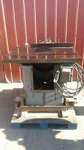Tannewitz Type U 16 5hp Table Saw Shaftless Woods 220 440 3ph 60hz 3600 Rpm