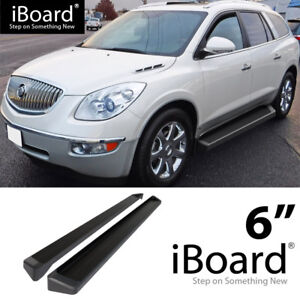 Iboard Black Running Boards Style Fit 07 17 Chevrolet Traverse