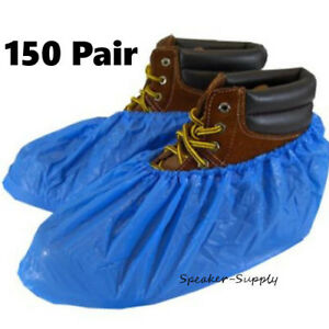 Boot Shoe Plastic Covers Protective Disposable Booties 150 Pair Lot Sky5035 X3
