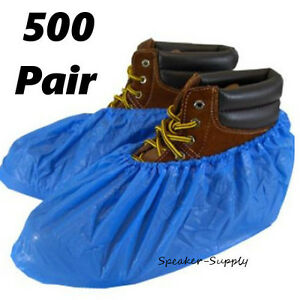Boot Shoe Plastic Covers Protective Disposable Booties 500 Pair Lot Sky5035 X10