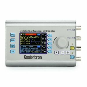 60mhz Dds Dual channel Signal Waveform Generator Source Frequency Meter Counter