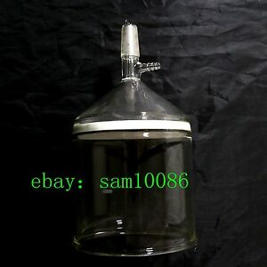 Glass Buchner Funnel 3 Coarse Filter With 10mm Vacuum Adapter 5000ml 24 40 lab