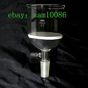 Glass Buchner Funnel 3 Coarse Filter With 10mm Vacuum Adapter 350ml 24 40 lab