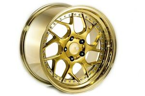 Aodhan Ds01 18x9 5 5x114 3 Gold Rims Flush Fit Toyota Camry Avalon Supra Solora
