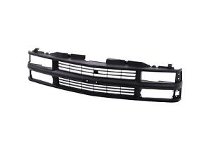 Full Black Grille W Insert For 94 98 Chevy C k Truck Suburban Tahoe Gm1200239
