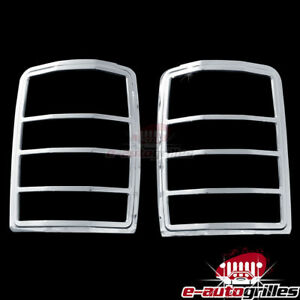 2008 2013 Jeep Liberty Chrome Plated Taillight Tail Light Trim Bezel Lamp Cover