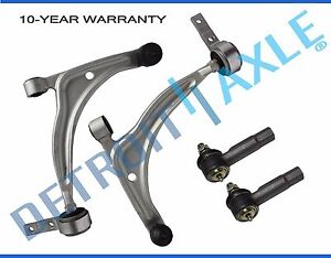 4pc Front Lower Control Arm Tie Rod For 2002 2003 2004 2005 2006 Nissan Altima