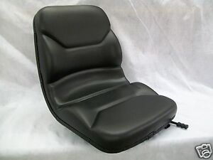 High Back Black Seat Fits Case 586 Forklifts Replaces Part Number 87454300 of