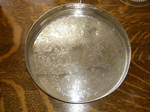 Cavelier Silver Plated Rimmed Charger 8 Made In England
