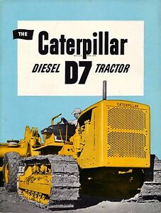 Rare Collectible Original The Caterpillar D7 Tractor Co form 12678 almost Mint