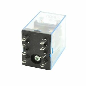 Hh52p Dc12v Coil 8 pins Dpdt Green Led Electromagnetic Relay