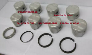 Sealed Power Speed Pro Pontiac 350 Cast Flat Top Pistons Moly Rings Kit 030