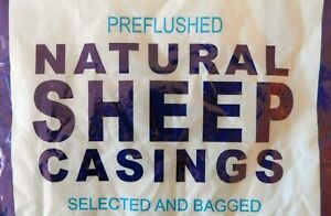 Large Pack Natural Sheep Lamb Casings Gut For 40 Lbs Of Fresh Sausage Free Ship