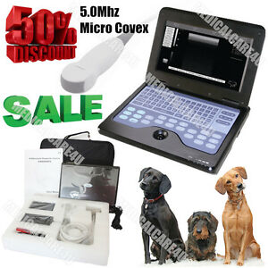 Contec Usa Newest Veterinary Laptop Ultrasound Scanner Machine 5 0m Micro Convex