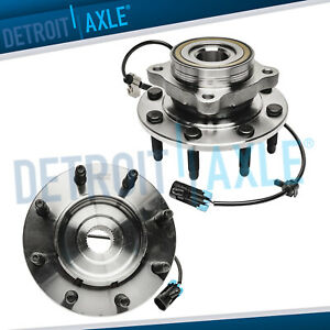 Both 2 New Front Wheel Hub And Bearing Assembly For Chevy Gmc Trucks 4x4 Abs
