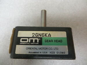 Oriental Motor 2gn6ka Gear Head New