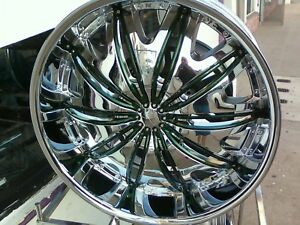 24 Inch Velocity V820 Wheels Rims Tires Fit 5 X 115 Charger Magnum Challenger