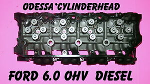 Ford 6 0 Turbo Diesel F350 Truck Cylinder Head Cast 080 Only 02 06 18mm Rebuilt