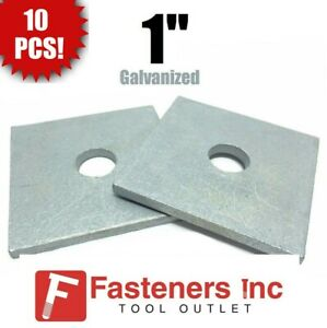 10 1 X 3 1 2 X 375 approx Square Bearing Plate Washer Hot Dip Galvanized
