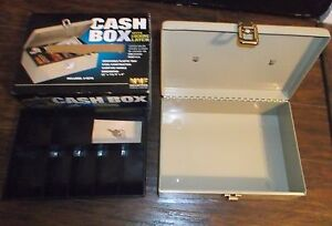 Mmf Steel Cash Box With Security Cable Locking Latch